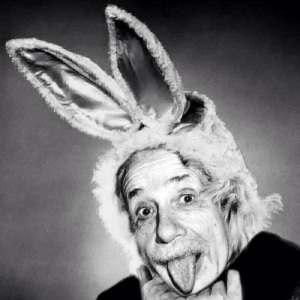 Even Einstein was smart about bunnies.