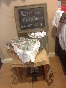 The display of our bunny berries at the craft fair.
