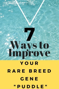 7 Ways to Improve Your Rare Breed Gene Puddle
